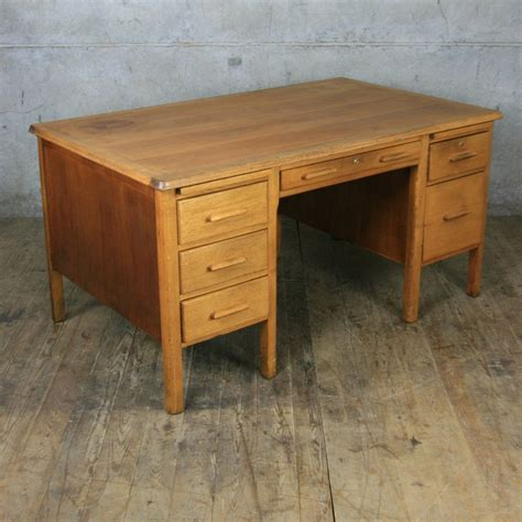 Antique Teachers Desk by Large Vintage Oak School Teachers Desk Mustard Vintage