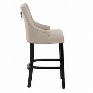 Chaise Bar Bois : chaise de bar bois tissu ascot monde du tabouret ~ Teatrodelosmanantiales.com Idées de Décoration