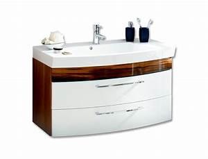 Waschtisch 100 Cm Breit : bad waschtisch rima 2 ausz ge 100 cm breit wei walnuss bad waschtische ~ Indierocktalk.com Haus und Dekorationen