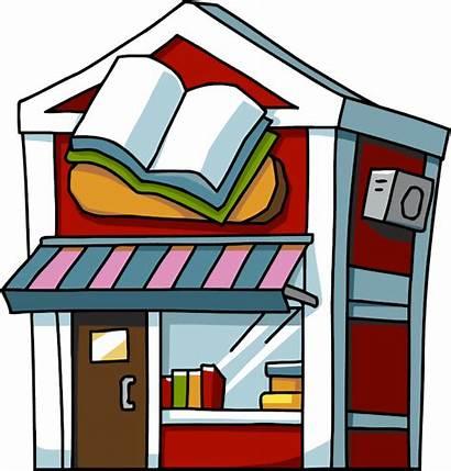 Bookstore Flashcards Clipart Bookshop Places Cliparts Buildings