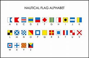 nautical flag alphabet anything and everything pinterest With nautical flag letters