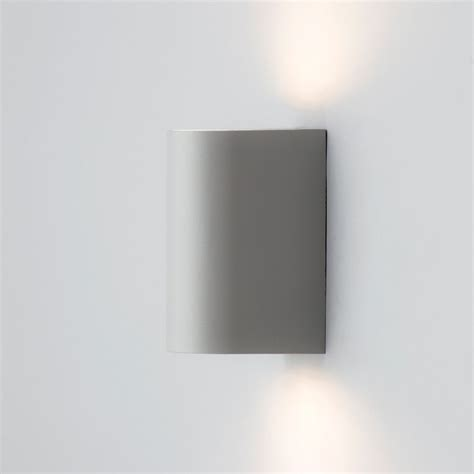 outdoor led up and lighter wall light grey from litecraft