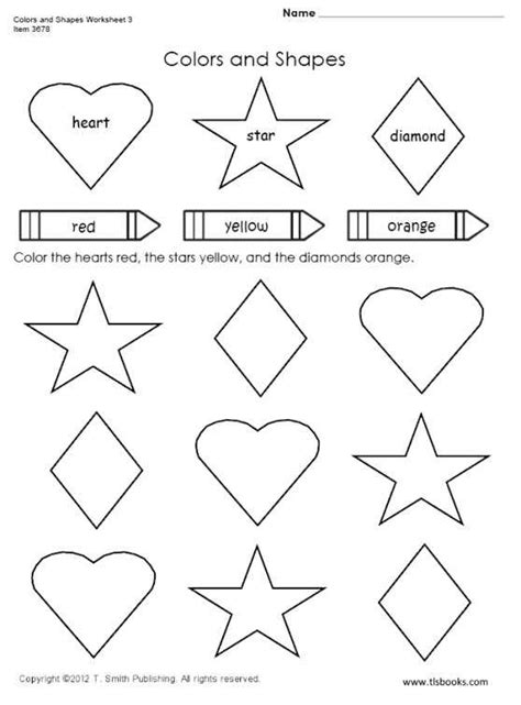 free shapes and colors worksheets 3 for use with saxon 1