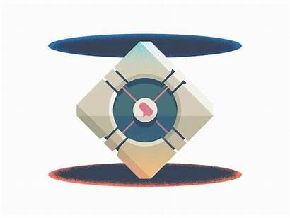 Loop Feedback Portal Cube Infinite Companion Dribbble