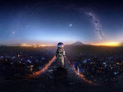 Astronaut Space Galaxy Stars Background Standard