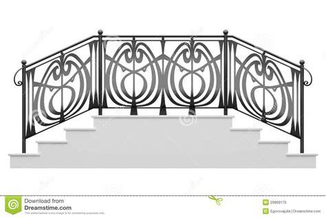 Wrought Iron Stairs Railing Stock Photo