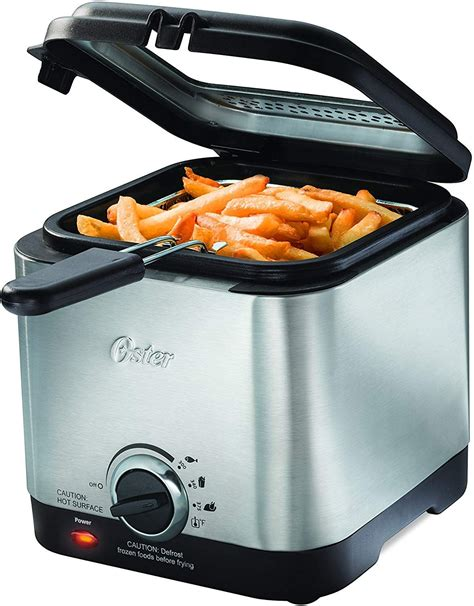 fryer deep oster compact stainless steel ss fryers australia air electric mini zealand silver