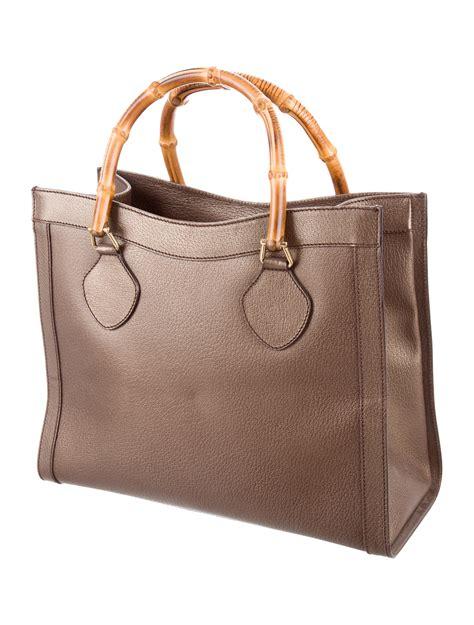 gucci vintage bamboo tote handbags guc