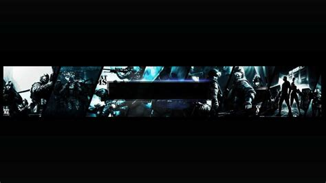 banner template no text combat arms channel and thumbnails templates with gaming banner template