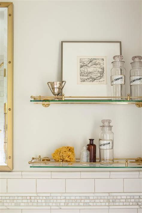 glass shelves toilet glass and brass vintage glass shelves above toilet 3811