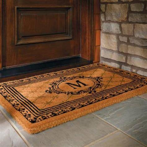 custom door mats monogrammed front door mats to keep your home tidy as well