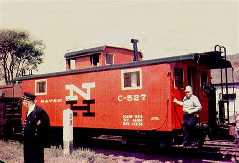 New Haven Railroad caboose C-527 in 1956. From the interne ...