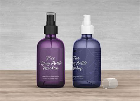 White cosmetic bottle mockup free png. Free Plastic Spray Bottle Mockup PSD Set - Good Mockups