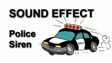 Police Siren No 2 Sound Effect