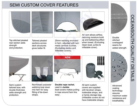Runabout Boat Cover by Runabout Boat Covers Semi Custom Oceansouth Boat Cover