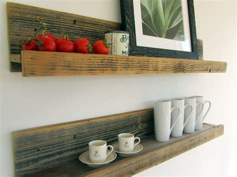 reclaimed rustic wood shelves upcycled
