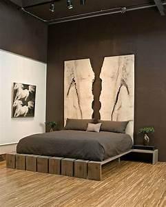 Tete De Lit Chic Et Design : r cup palettes 34 chambres coucher la t te de lit palette ~ Teatrodelosmanantiales.com Idées de Décoration