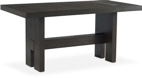 wood counter height dining table malibu rectangular counter height wood top table umber