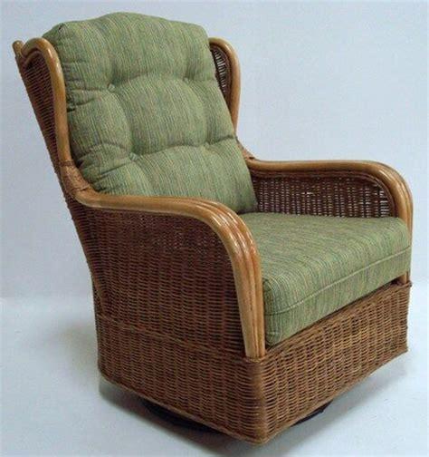 rattan swivel glider chair