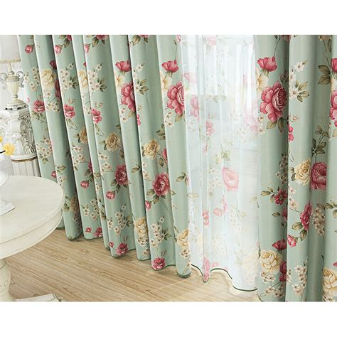 floral shabby chic curtains romantic floral green blackout shabby chic curtains