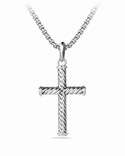 Cross Silver Sterling Pendant David Yurman Cable