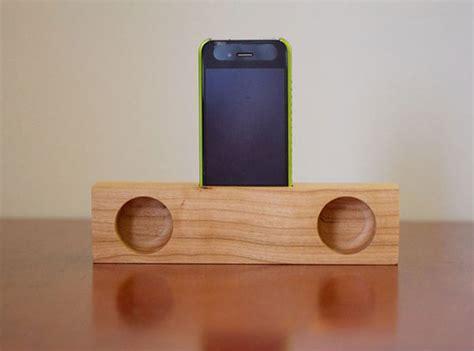 wooden iphone speaker iphone passive wooden speakers look ma no electricity
