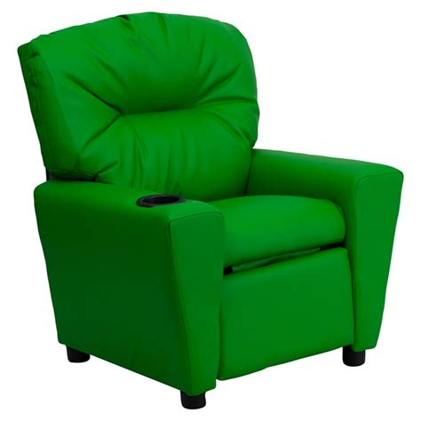 Infant Recliners by Upholstered Recliner Chair Cup Holder Green Dcg