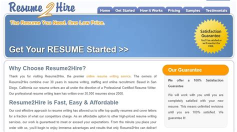 Resume Writing Services Reviews by Resume2hire Review Resume Writing Services Reviews