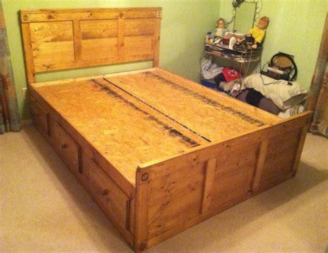 build king size bed plans  drawers diy  loft bed