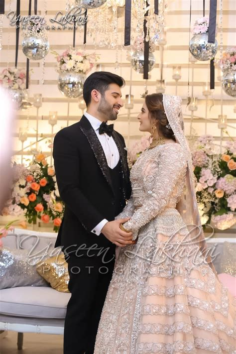 beautiful pictures  aiman khan wedding reception
