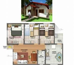 Www Eq 3 De : plantas de casas com 3 quartos 37 inspira es e projetos ~ Lizthompson.info Haus und Dekorationen