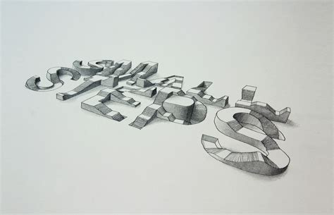 amazing 3d typography experiment by lex wilson
