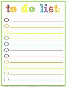 cool to do list template - free printable to do lists cute colorful templates