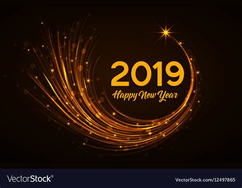 Happy New Year 2019 Royalty Free Vector Image
