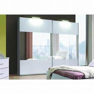 Dressing 150 Cm : armoire 2 portes coulissantes verona blanche laqu e avec ~ Teatrodelosmanantiales.com Idées de Décoration