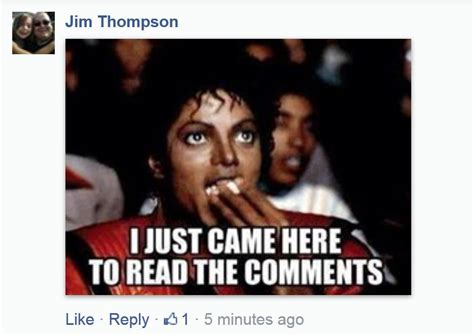 Popcorn Eating Meme - we asked you delivered your favorite i just came here to read the comments michael jackson
