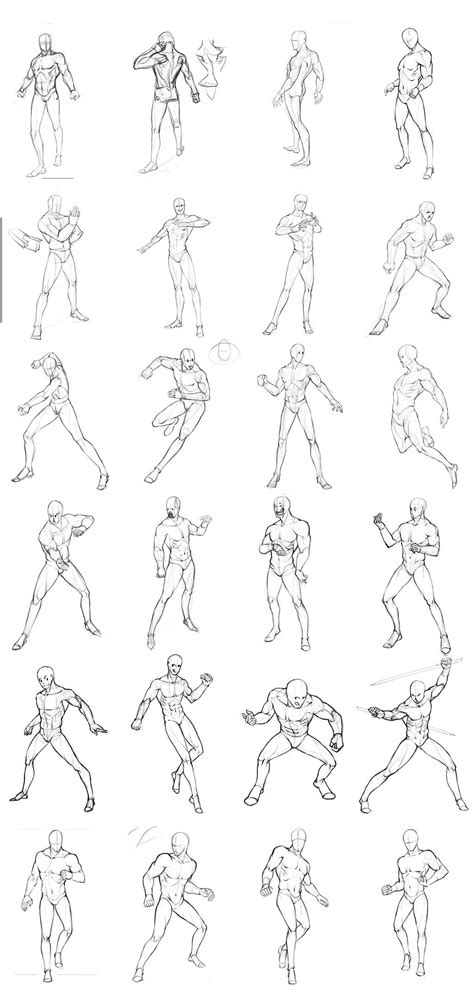 poses chart 02 by theoneg drawings pose reference drawing poses