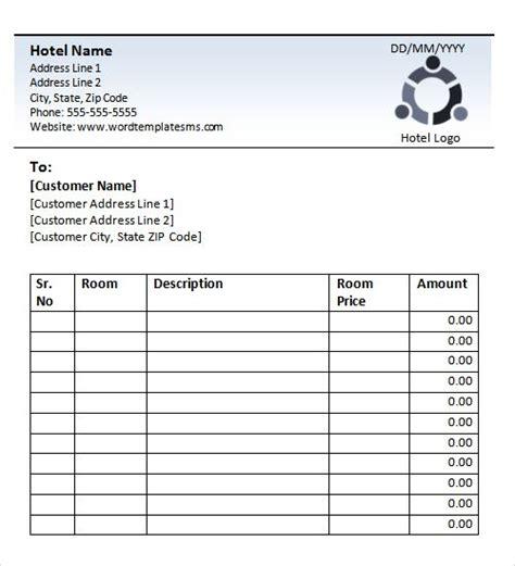 blank hotel receipt books hotel receipt template