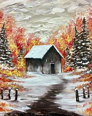 Paint Nite Christmas Paintings