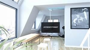 Tv Deckenhalterung Schwenkbar : pfwe elektrische tv wandhalterung zoll halterung duschvorhang decke motor boden elektrisch ~ Orissabook.com Haus und Dekorationen