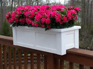 Vinyl Deck Railing Reviews by Rail Planters Add Perfect Accent To Deck Porch Or Patio
