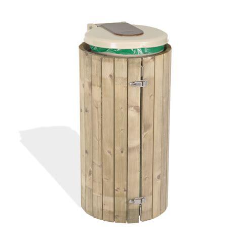 poubelle en bois cuisine habillage support sacs poubelle en bois doublet