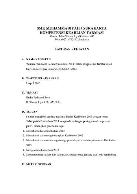 Contoh Cover Laporan Seminar Kumpulan Contoh Makalah Doc Lengkap
