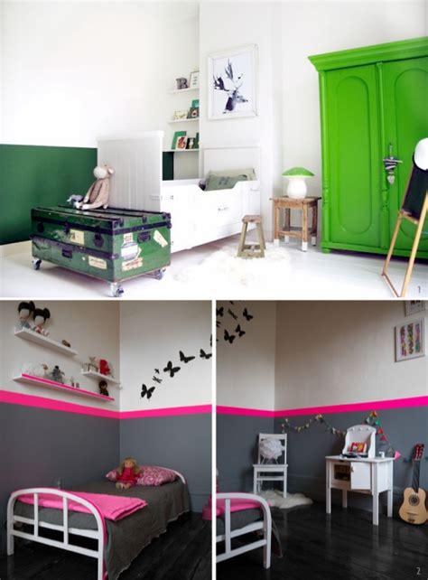 peinture chambre 2 couleurs peindre le mur en 2 couleurs