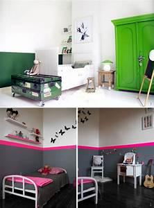 Comment Peindre Une Chambre En 2 Couleurs : peindre le mur en 2 couleurs ~ Melissatoandfro.com Idées de Décoration