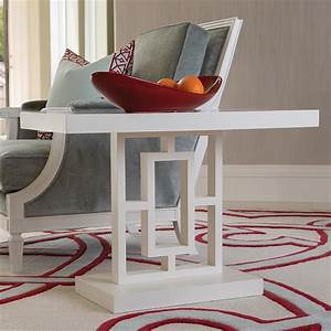 Pierce, Modern, Classic, Grid, Block, White, Side, Table