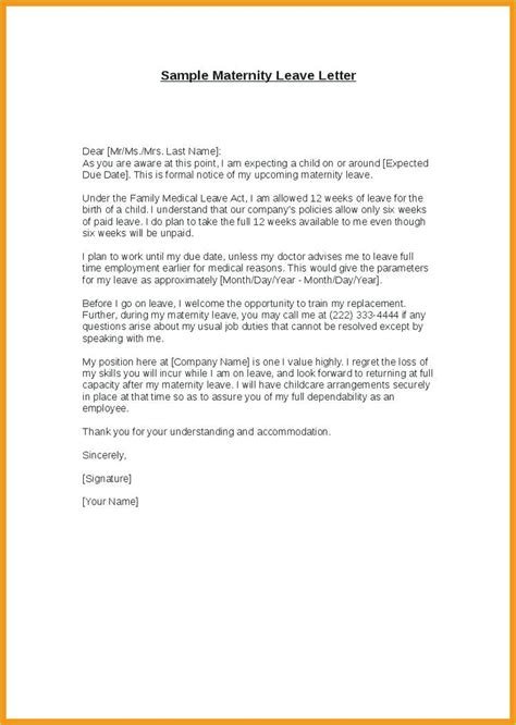 leave letter  employee letter signature
