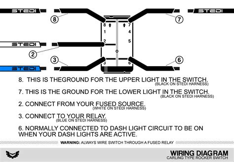 Led Switch Wiring Diagram by Carling Type Rocker Switch Wiring Diagram Stedi
