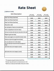 4 excel sheet templates for everyone word excel templates With rate sheets templates