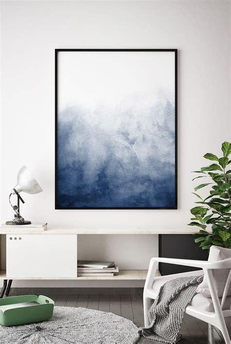 navy blue watercolour printable indigo artwork minimalist